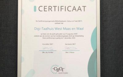 Eerste Taalhuis in Nederland gecertificeerd
